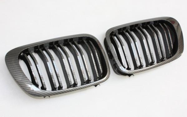 Frontgrill CARBON-LOOK für BMW 3er Cabrio, Coupe (E46, '99-'02), M3 (E46)