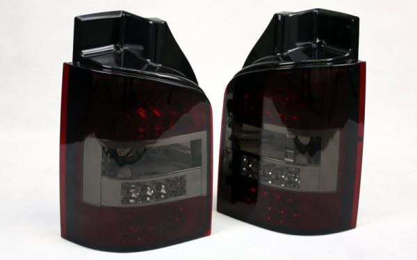 LED-Rückleuchten SET VW T5 (-2009) 1 Heckklappe mit LED-Blinker ROT/SMOKE