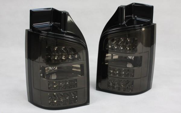 LED-Rückleuchten SET VW T5 (-2009) 1 Heckklappe mit LED-Blinker CHROM/SMOKE