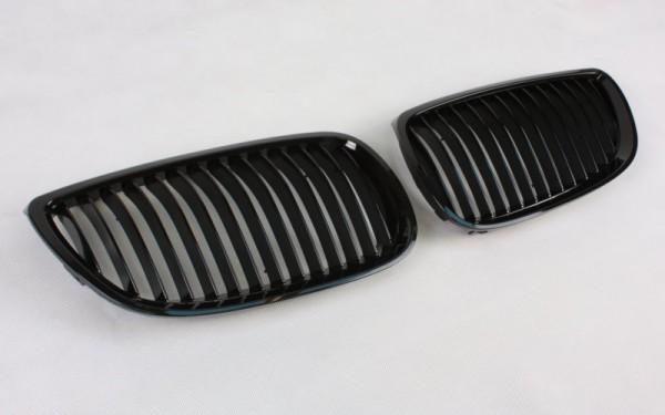 Frontgrill SCHWARZ GLÄNZEND für BMW 3er Coupe, Cabrio (E92/E93 -'10), M3 (E90/92/93, E90/92/93 LCI)