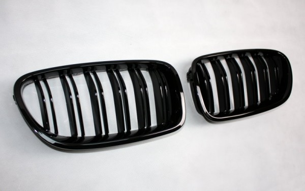 Frontgrill SCHWARZ GLÄNZEND für BMW 5er (F10/F11/F18/F10 LCI/F11 LCI/F18 LCI)