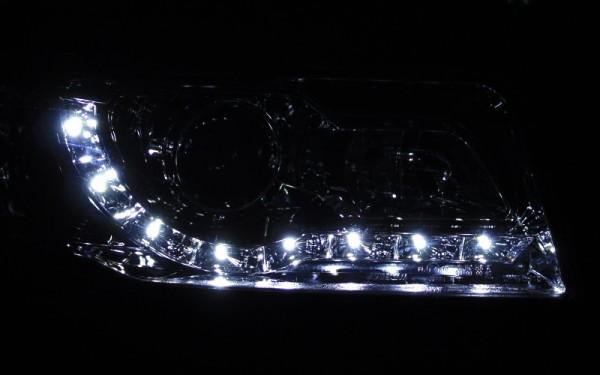 Scheinwerfer SET Tagfahrlicht-Look CHROM für Audi 100 (C4)