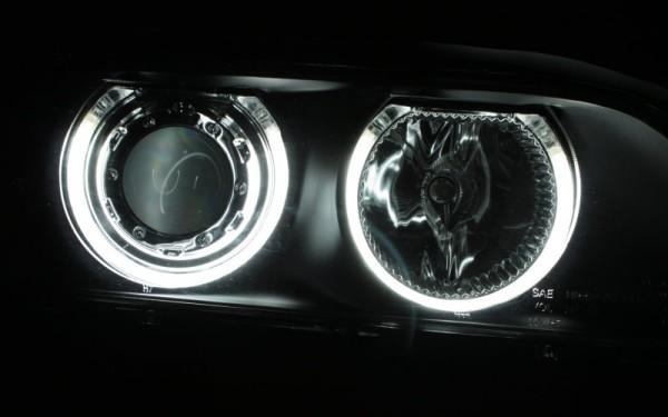 Scheinwerfer SET CCFL Standlichtringe SCHWARZ BMW 5er (E39)
