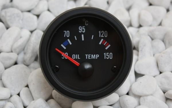 Öltemperaturanzeige SCHWARZ 52mm
