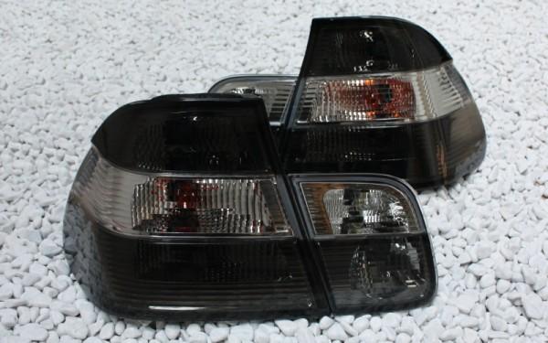 KLARGLAS-Rückleuchten SET BMW 3er (E46) Limousine CHROM/SMOKE