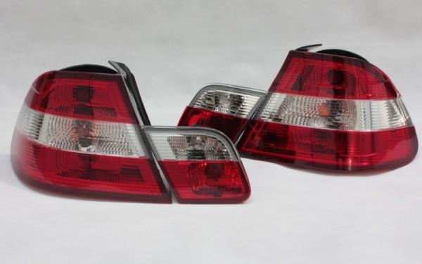 Rückleuchten SET BMW 3er (E46) Coupe (-2002) ROT/CLEAR