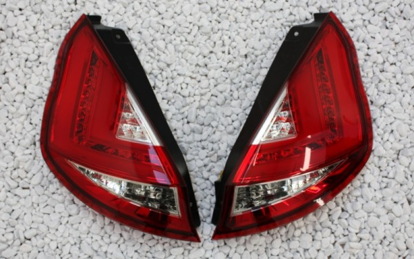 LED-BAR-Rückleuchten SET für Ford Fiesta MK7 VI (JA8, 2013-) ROT/CLEAR