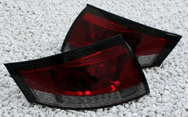 LED-BAR-Rückleuchten SET für Audi TT (8N) ROT/SMOKE