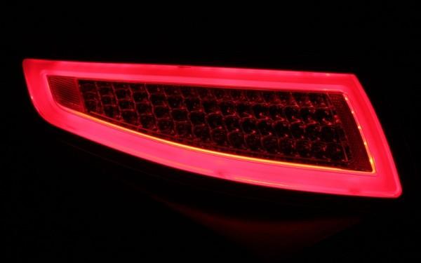 LED-BAR-Rückleuchten SET für Porsche 911 (997) -2008 ROT/CLEAR