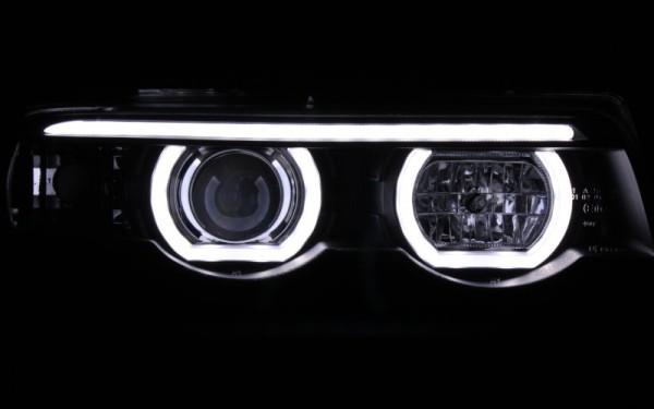 Scheinwerfer SET Standlichtringe SCHWARZ BMW 7er (E38)