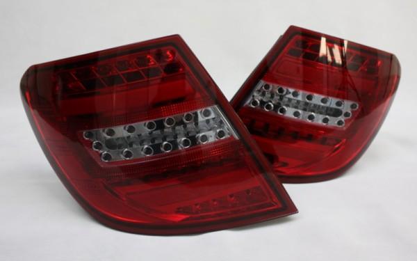 LED-BAR-Rückleuchten SET Mercedes-Benz C-Klasse (W204) T-Modell -2011 ROT/SMOKE