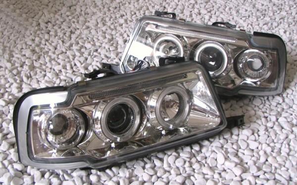 Scheinwerfer SET Standlichtringe CHROM für Audi 80 (B4), S2, RS2, Cabrio (B3/Typ89), Coupe