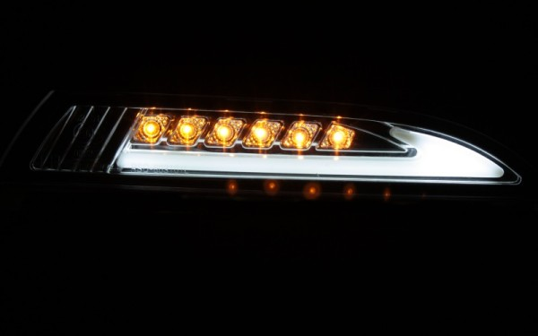 LED-Frontblinker SET CHROM für VW Scirocco 3 mit LIGHT-BAR Standlicht