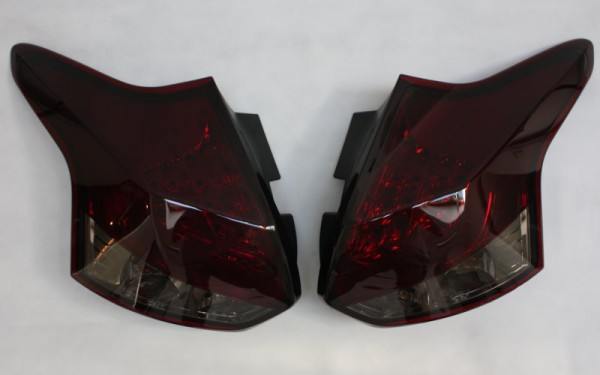 LED-BAR-Rückleuchten SET für Ford Focus MK3 (DYB, -2014) 5-Türer ROT/SMOKE