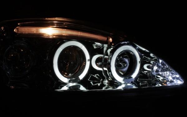 Scheinwerfer SET Standlichtringe CHROM Opel Corsa C