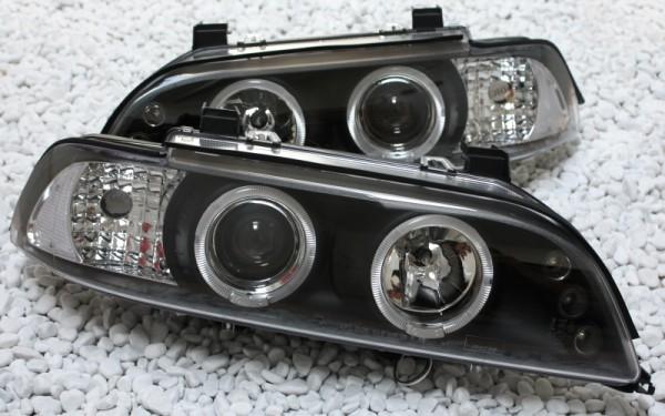 Scheinwerfer SET Standlichtringe SCHWARZ BMW 5er (E39)
