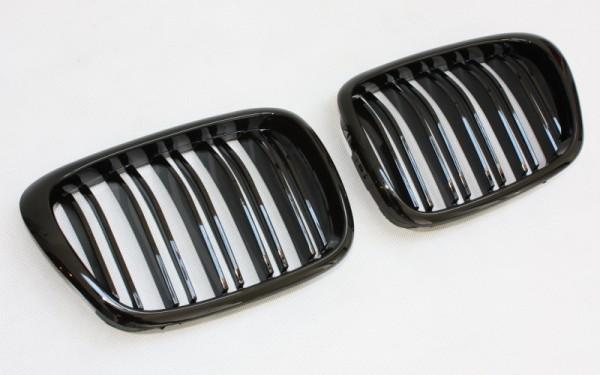 Frontgrill SCHWARZ GLÄNZEND für BMW 5er (E39)