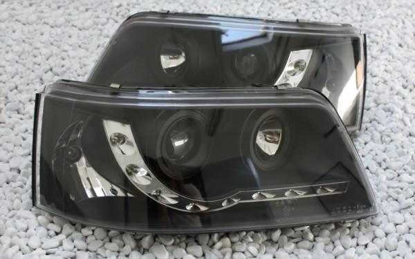 Scheinwerfer SET Tagfahrlicht-Look SCHWARZ VW T5 (-'09)