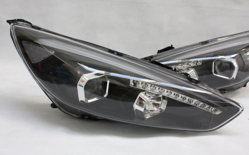 scheinwerfer set light bar schwarz ford focus mk3 facelift 39 14 quantitec shop. Black Bedroom Furniture Sets. Home Design Ideas