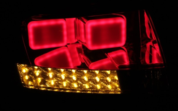 LED-BAR-Rückleuchten SET für Audi TT (8N) ROT/CLEAR