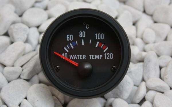 Wassertemperaturanzeige SCHWARZ 52mm