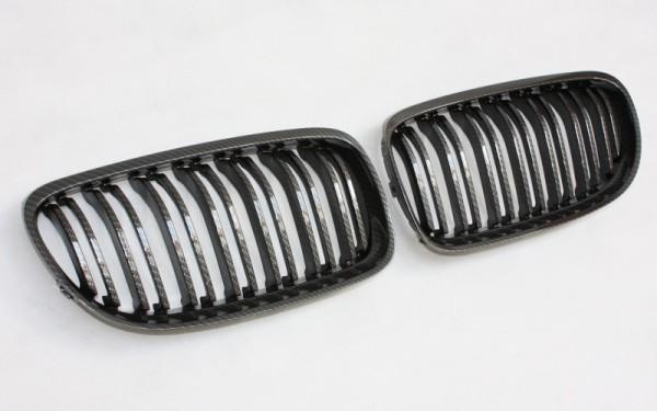 Frontgrill CARBON-LOOK für BMW 3er Limousine, Touring (E90 LCI/E91 LCI, '08-)
