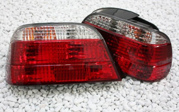 KLARGLAS-Rückleuchten SET für BMW 7er (E38) ROT/CLEAR