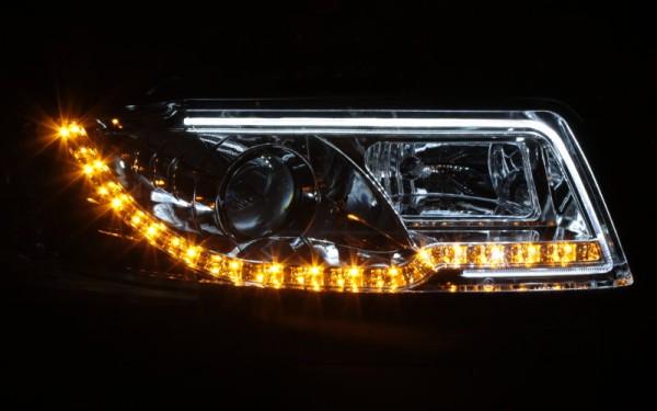 Scheinwerfer SET Tagfahrlicht-Look SCHWARZ für Audi A4 (8E, B7)