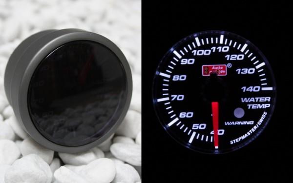 Wassertemperaturanzeige STEPPERMOTOR SMOKE-LINE WEIß 52mm