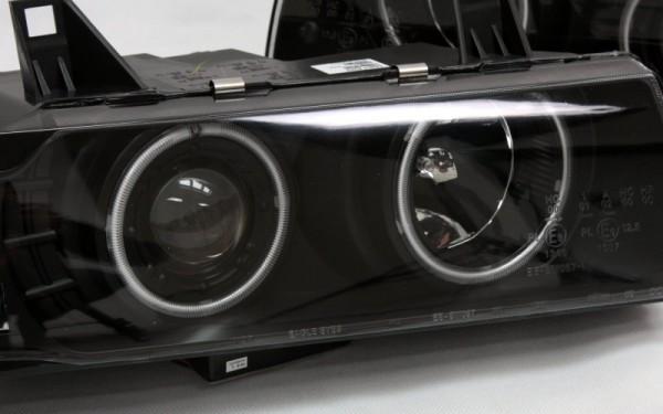 Scheinwerfer SET CCFL Standlichtringe SCHWARZ BMW 3er (E36) Limousine, Touring, Compact
