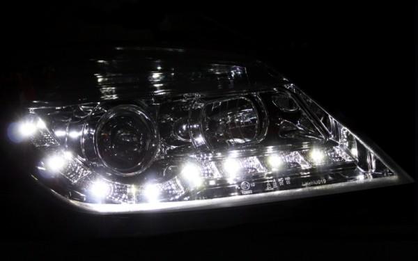 Scheinwerfer SET Tagfahrlicht-Look CHROM Opel Astra H