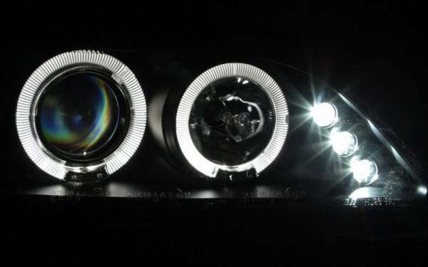 Scheinwerfer SET Standlichtringe SCHWARZ Opel Astra G