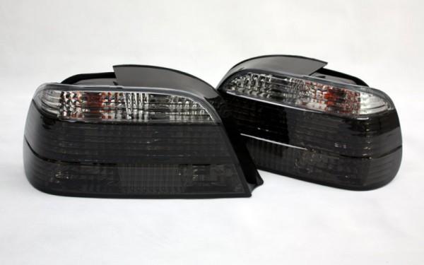 KLARGLAS-Rückleuchten SET für BMW 7er (E38) CHROM/SMOKE