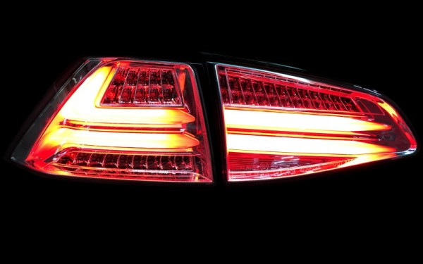 LED-BAR-Rückleuchten SET VW Golf 7 (5G) Kompaktlimousine ROT/CLEAR