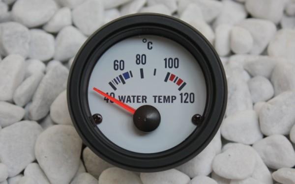 Wassertemperaturanzeige WEIß 52mm
