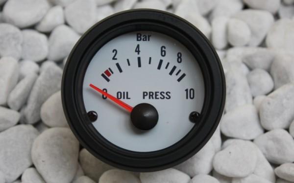 Öldruckanzeige WEIß 52mm