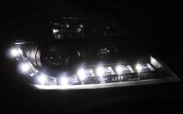 Scheinwerfer SET Tagfahrlicht-Look SCHWARZ Opel Astra H