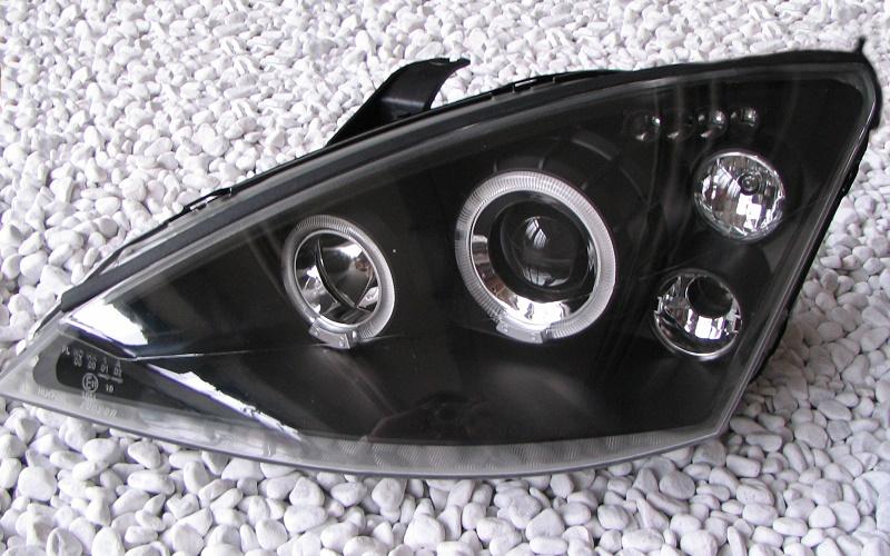 scheinwerfer set standlichtringe schwarz ford focus mk1 39 98 39 01 quantitec shop. Black Bedroom Furniture Sets. Home Design Ideas