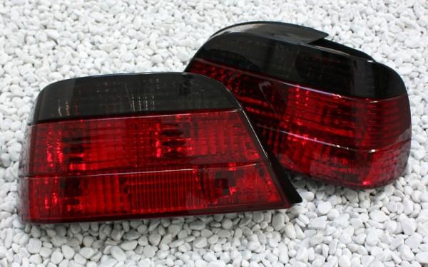KLARGLAS-Rückleuchten SET für BMW 7er (E38) ROT/SMOKE