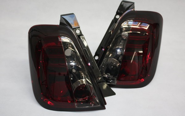 LED-Rückleuchten SET Fiat 500, 500C ('07-'16) ROT/SMOKE