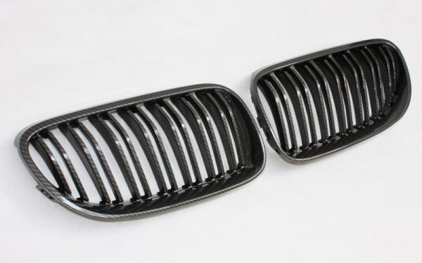 Frontgrill CARBON-LOOK für BMW 3er Coupe, Cabrio (E92 LCI/E93 LCI, '10-)
