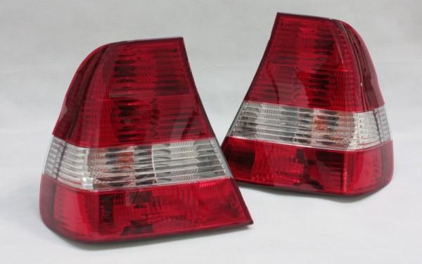 KLARGLAS-Rückleuchten SET BMW 3er (E46) Compact ROT/CLEAR