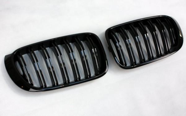 Frontgrill SCHWARZ GLÄNZEND für BMW X3 (F25 LCI, 2014-), X4 (F26)