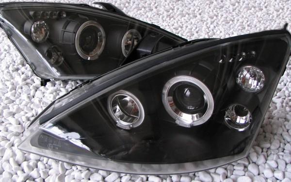 Scheinwerfer SET Standlichtringe SCHWARZ Ford Focus MK1 ('98-'01)