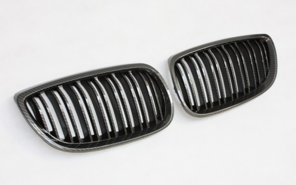 Frontgrill CARBON-LOOK für BMW 3er Coupe, Cabrio (E92/E93 -'10), M3 (E90/92/93, E90/92/93 LCI)