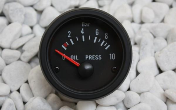 Öldruckanzeige SCHWARZ 52mm