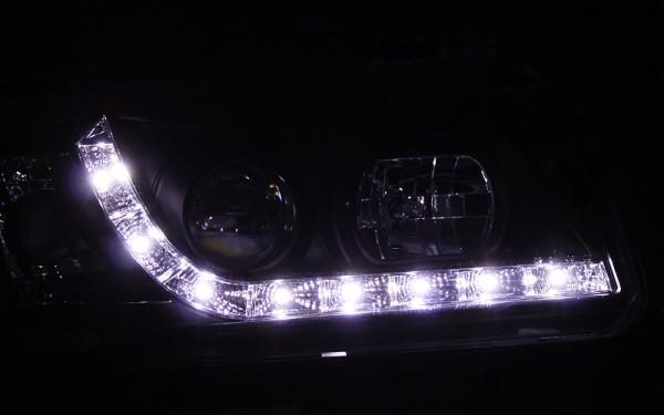 Scheinwerfer SET Tagfahrlicht-Look SCHWARZ für Audi 80 (B4), S2, RS2, Cabrio (B3/Typ89), Coupe