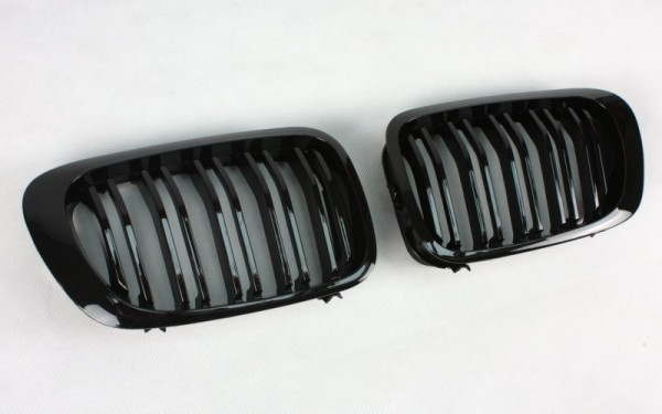 Frontgrill SCHWARZ GLÄNZEND für BMW 3er Cabrio, Coupe (E46, '99-'02), M3 (E46)