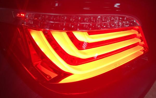 LED-BAR-Rückleuchten SET BMW 5er (E60) Facelift ('07-) ROT/KLAR