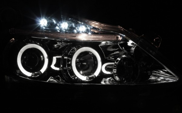 Scheinwerfer SET Standlichtringe CHROM Opel Corsa D (-'11)